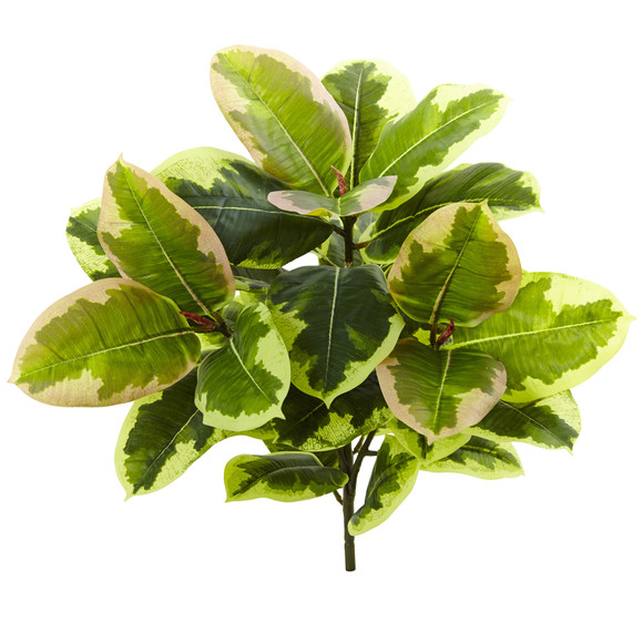 23 Rubber Leaf Artificial Plant Real Touch Set of 3 - SKU #6148-S3 - 2