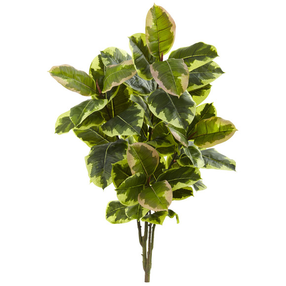 40 Rubber Leaf Artificial Plant Real Touch Set of 2 - SKU #6149-S2