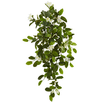 19 Mixed Stephanotis Ivy Hanging Artificial Plant Set of 4 - SKU #6151-S4