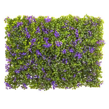 6 x 6 Purple Green Clover Mat Set of 12 - SKU #6153-S12