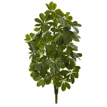 32 Green Baby Schefflera Artificial Plant Real Touch Set of 2 - SKU #6158-S2