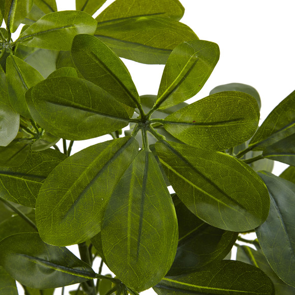 32 Green Baby Schefflera Artificial Plant Real Touch Set of 2 - SKU #6158-S2 - 1