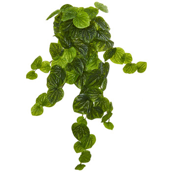 25 Peperomia Hanging Bush Artificial Plant Set of 6 Real Touch - SKU #6184-S6