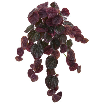 25 Peperomia Artificial Hanging Bush Set of 6 Real Touch - SKU #6185-S6