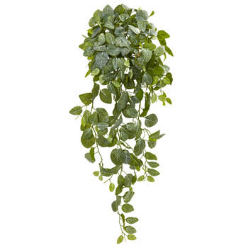 36 Fittonia Hanging Bush Artificial Plant Set of 2 Real Touch - SKU #6190-S2