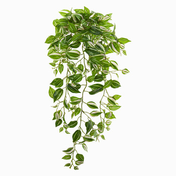 32 Wandering Jew Hanging Artificial Plant Set of 2 Real Touch - SKU #6192-S2
