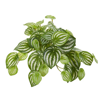 11 Watermelon Peperomia Hanging Artificial Bush Plant Set of 12 Real Touch - SKU #6197-S12