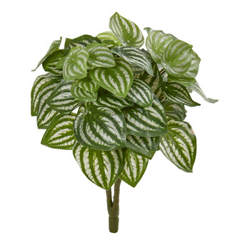 14 Watermelon Peperomia Artificial Plant Set of 6 Real Touch - SKU #6198-S6