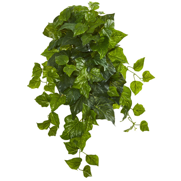 28 Deluxe London Ivy Hanging Bush Artificial Plant Set of 3 Real Touch - SKU #6199-S3
