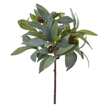 12 Olive Branch Artificial Plant with Berries Set of 12 - SKU #6201-S12