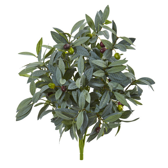 21 Olive Bush with Berries Artificial Plant Set of 3 - SKU #6202-S3