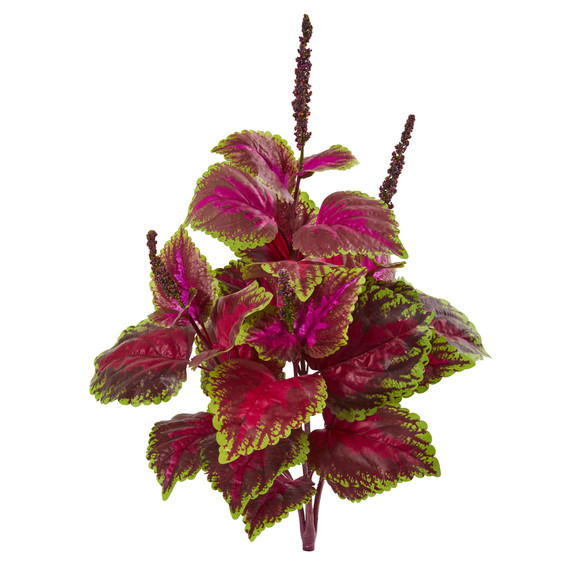 23 Coleus Bush Artificial Plant Set of 6 - SKU #6204-S6