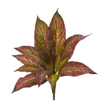 17 Musa Leaf Bush Artificial Plant Set of 12 - SKU #6207-S12