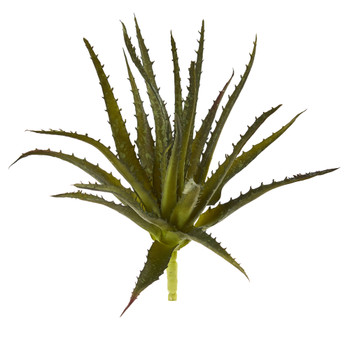 10 Aloe Pick Artificial Plant Set of 6 - SKU #6229-S6-GR