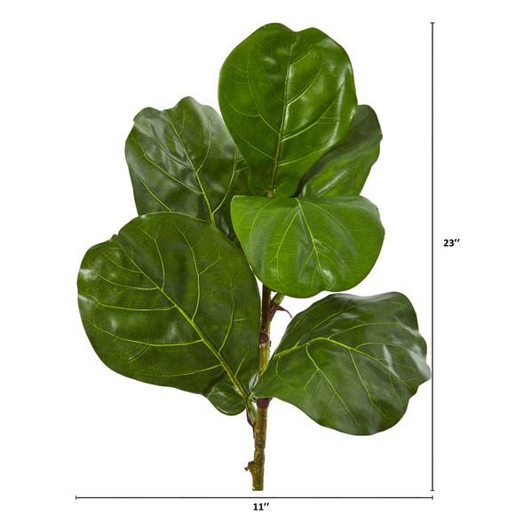 23 Fiddle Leaf Artificial Plant Set of 4 - SKU #6232-S4 - 1