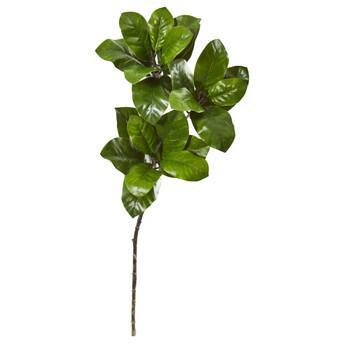 35 Magnolia Leaf Artificial Spray Plant Set of 3 - SKU #6233-S3