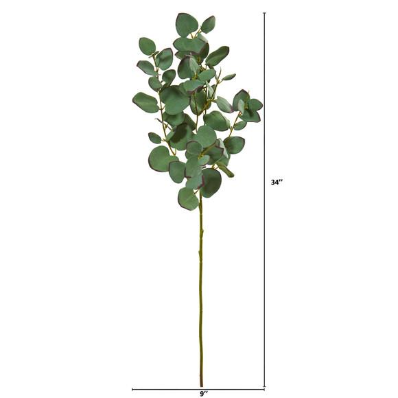 34 Eucalyptus Artificial Branch Set of 6 - SKU #6234-S6 - 1