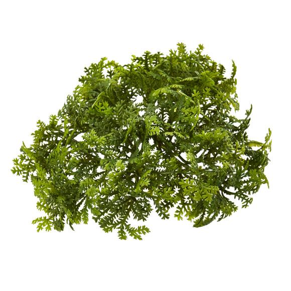 6 Moss Artificial Bush Flower Set of 12 - SKU #6257-S12
