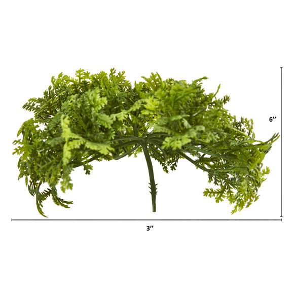 6 Moss Artificial Bush Flower Set of 12 - SKU #6257-S12 - 1