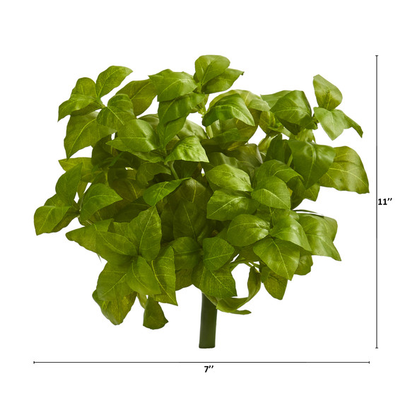 11 Basil Artificial Plant Set of 6 - SKU #6266-S6 - 3