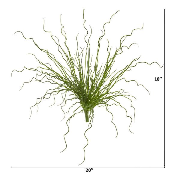 18 Curly Grass Artificial Plant Set of 6 - SKU #6267-S6 - 1