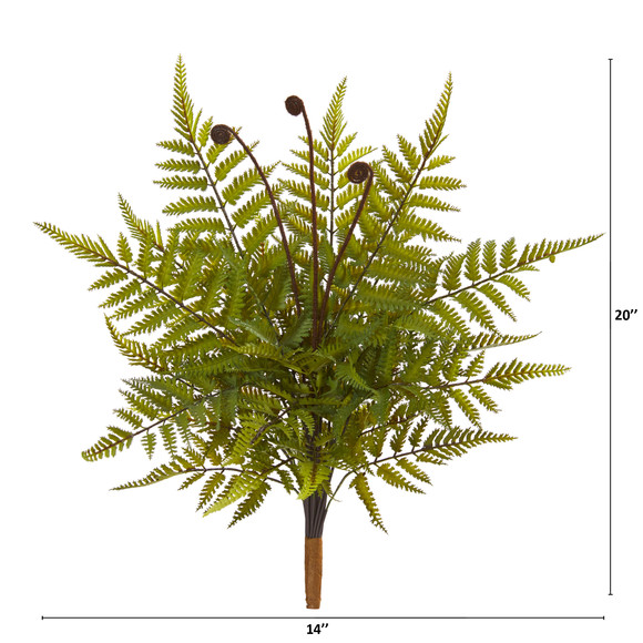 20 Fern Artificial Plant Set of 3 - SKU #6270-S3 - 1