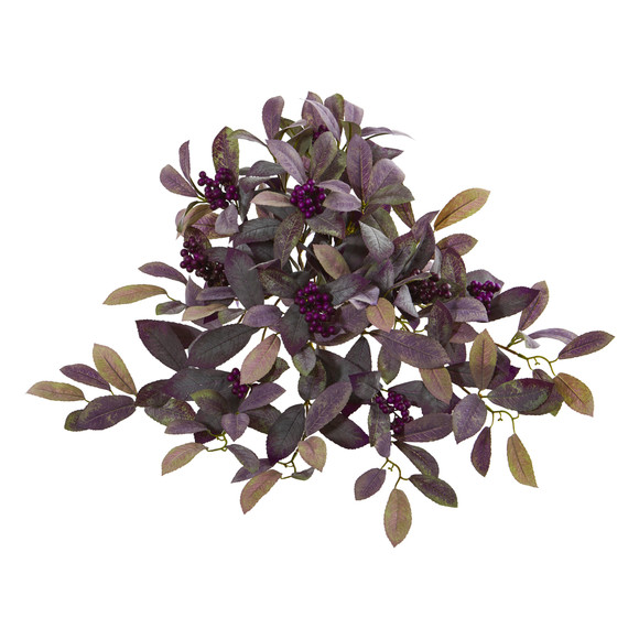 23 Fall Laurel Leaf with Berries Artificial Plant Set of 3 - SKU #6272-S3
