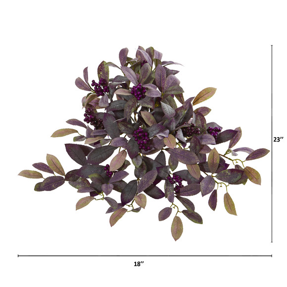 23 Fall Laurel Leaf with Berries Artificial Plant Set of 3 - SKU #6272-S3 - 1
