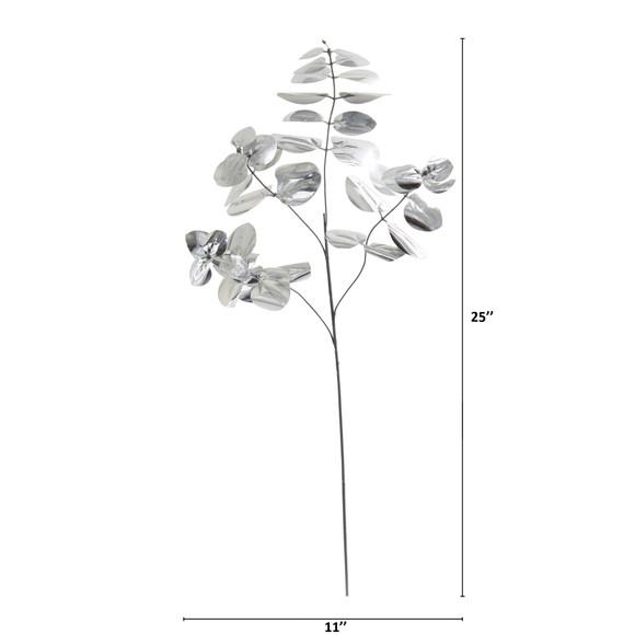 25 Metallic Eucalyptus Artificial Plant Set of 24 - SKU #6275-S24 - 3
