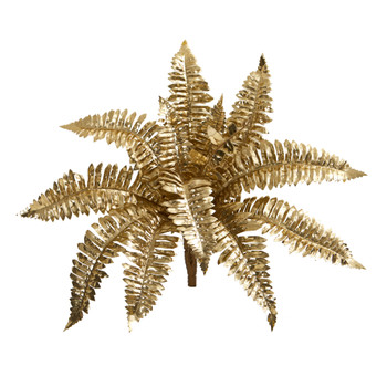 18 Metallic Boston Fern Artificial Plant Set of 12 - SKU #6276-S12