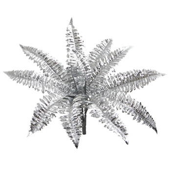 18 Metallic Boston Fern Artificial Plant Set of 12 - SKU #6276-S12-SV