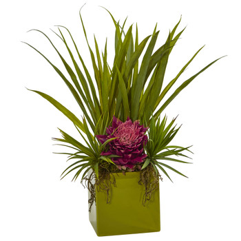 Tropical And Succulent Arrangement - SKU #6301