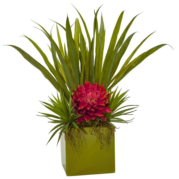 Tropical And Succulent Arrangement - SKU #6301 - 1