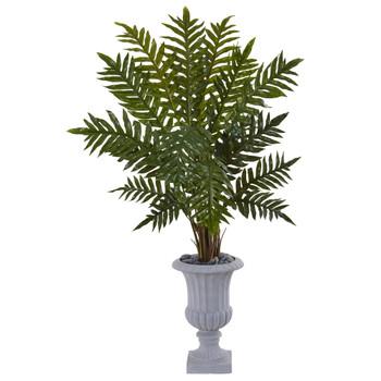 4.5 Evergreen Plant in Gray Urn - SKU #6320