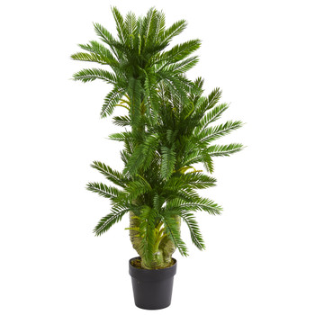 Triple Potted Cycas Artificial Plant - SKU #6357