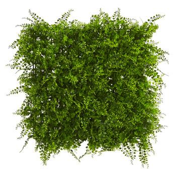 20 x 20 Lush Mediterranean Artificial Fern Wall Panel UV Resistant Indoor/Outdoor - SKU #6405