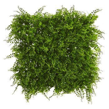 20 x 20 Lush Mediterranean Artificial Fern Wall Panel UV Resistant Indoor/Outdoor - SKU #6405