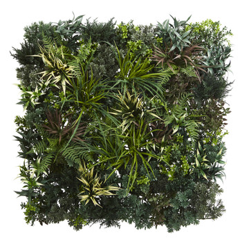 3 x 3 Greens Fern Artificial Living Wall UV Resist Indoor/Outdoor - SKU #6406