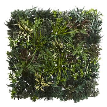 3 x 3 Greens Fern Artificial Living Wall UV Resist Indoor/Outdoor - SKU #6406