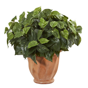 Pothos Artificial Plant in Terracotta Planter - SKU #6417