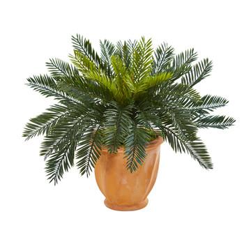 Cycas Artificial Plant in Terracotta Planter - SKU #6464
