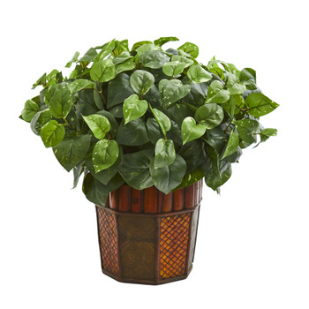 Pothos Artificial Plant in Decorative Planter - SKU #6465
