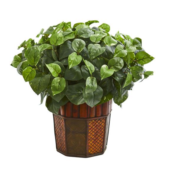 Pothos Artificial Plant in Decorative Planter - SKU #6465