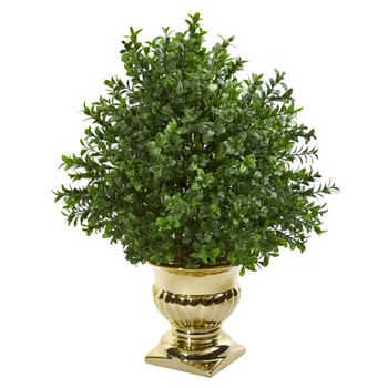 Sweet Grass Artificial Plant in Gold Urn - SKU #6473