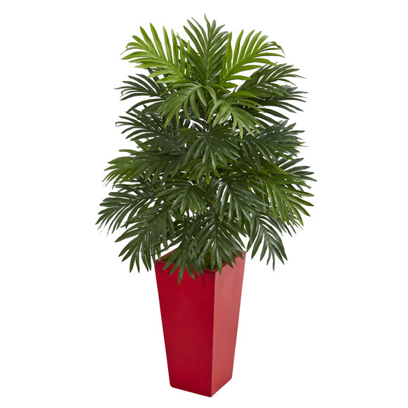 Areca Palm Artificial Plant in Red Planter - SKU #6489