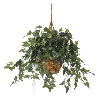 English Ivy Hanging Basket Silk Plant - SKU #6507