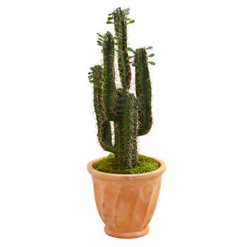 3 Cactus Artificial Plant in Terra Cotta Planter - SKU #6544