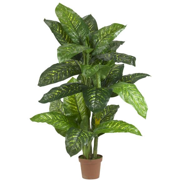 5 Dieffenbachia Silk Plant Real Touch - SKU #6573