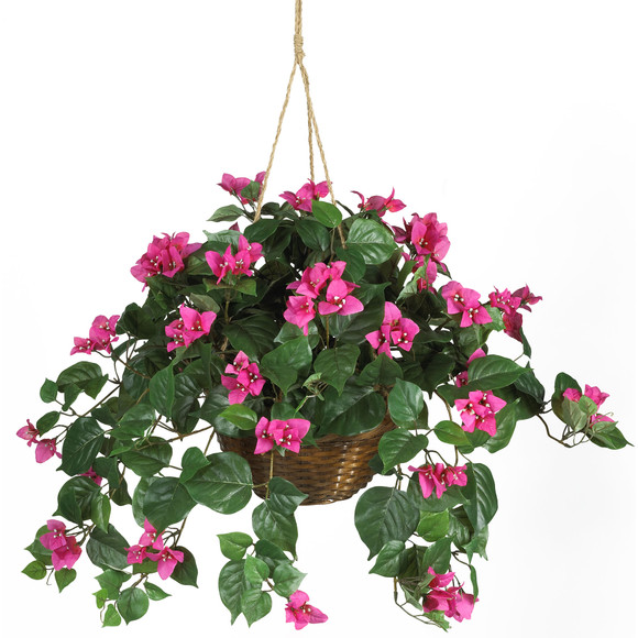 Bougainvillea Hanging Basket Silk Plant - SKU #6608