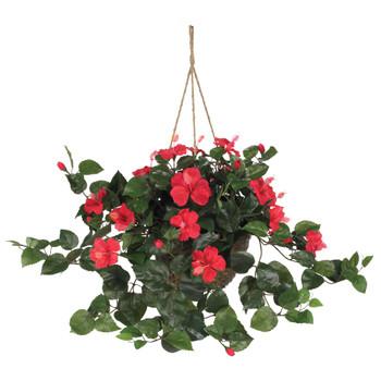 Hibiscus Hanging Basket - SKU #6614-RD